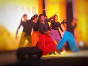 The children's dance at the cultural event