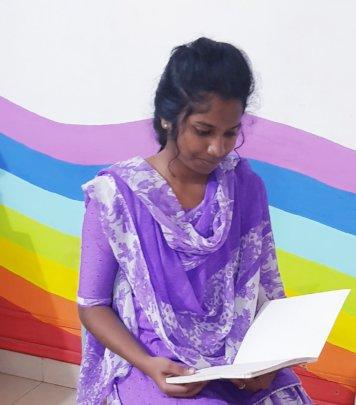 Akriti happy in the Trust