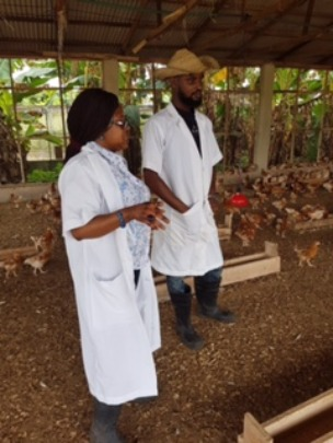 AnneGift Foundation Founder in poultry Farm