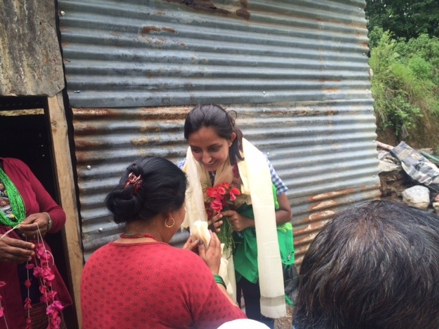 Received like a queen in Nuwakot