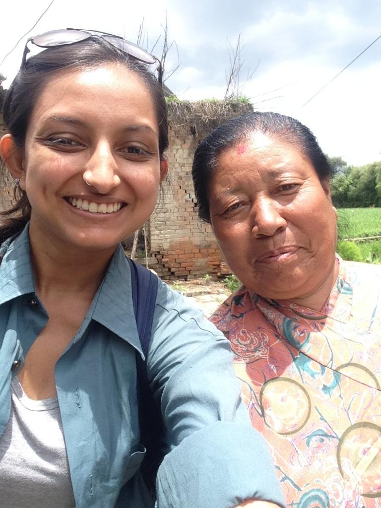 With the lovely Rudralaxmi (Bhaktapur)