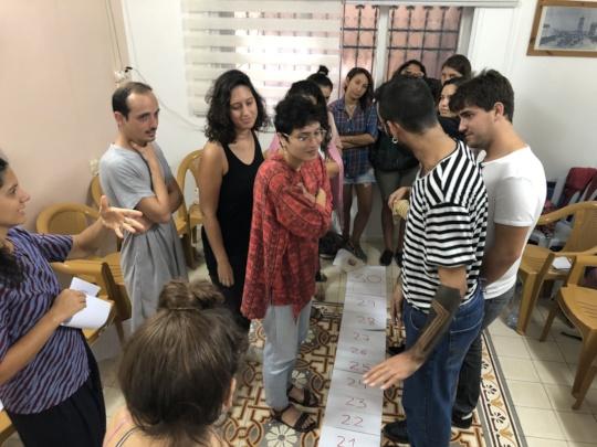 Coordinators and facilitators during a workshop