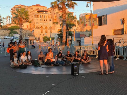 Participants hold Spoken Word event in Jaffa