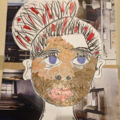 Self portrait collage - Yonela