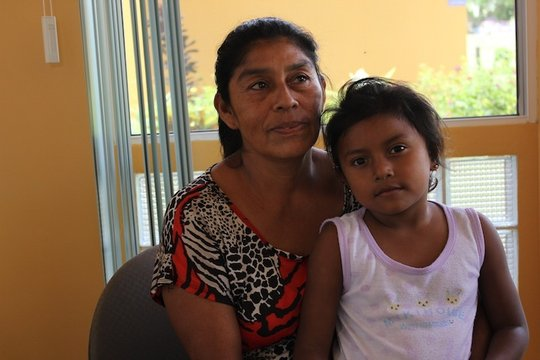 Ana Urbina and her granddaughter Frangie.