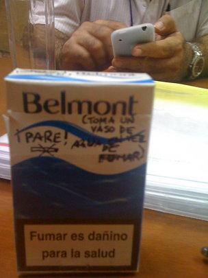 Message for Johny: No fumar!