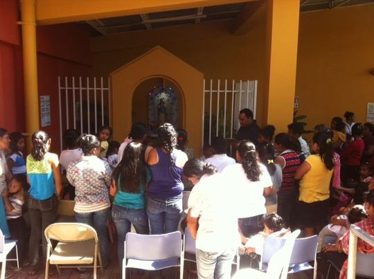 Celebrating the Purisima at Clinica Verde.