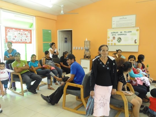 The Waiting Room of Clinica Verde.