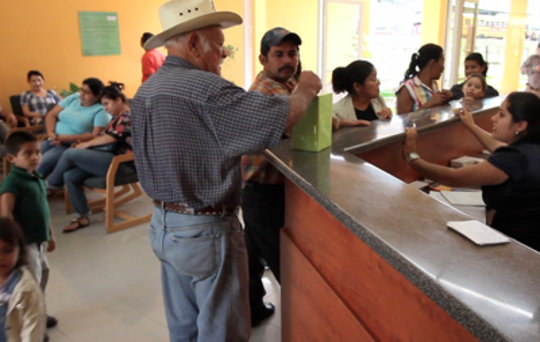 Clinica Verde waiting room.