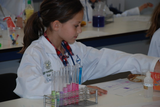 Science discovery in the lab in Athens