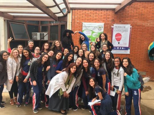 Future science leaders in Ouro Branco, Brazil!