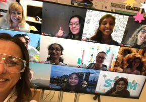 Our g4g Ambassadors meet with Solvay virtually