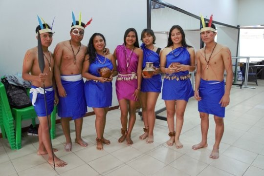 Traditional dance performed by the UCP students
