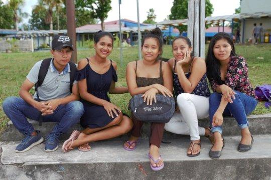 OEPIAP's Vicepresident Gimena, with her classmates