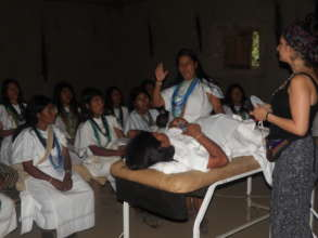 Midwives receiving ancestral training