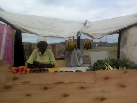 Jedida at her newly established business