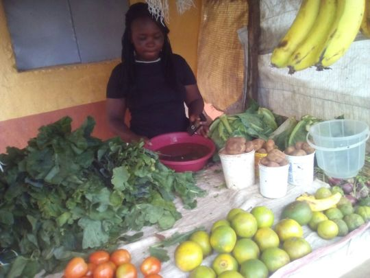 Mutheu at her new grocery stall