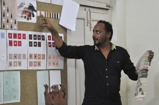 Bharatbhai presents concepts for his collection