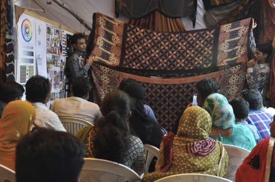 Khalidbhai presents his collection to family