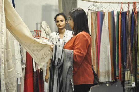 Taraben at exhibition in Chennai