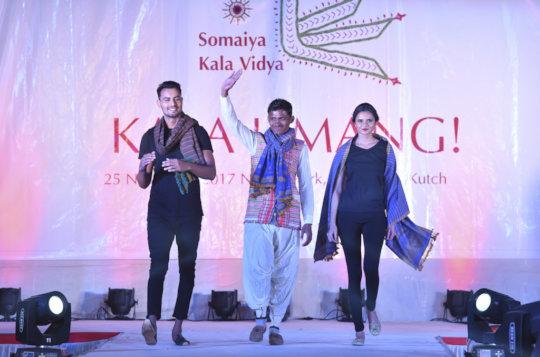 Miteshbhai walks the fashion show ramp