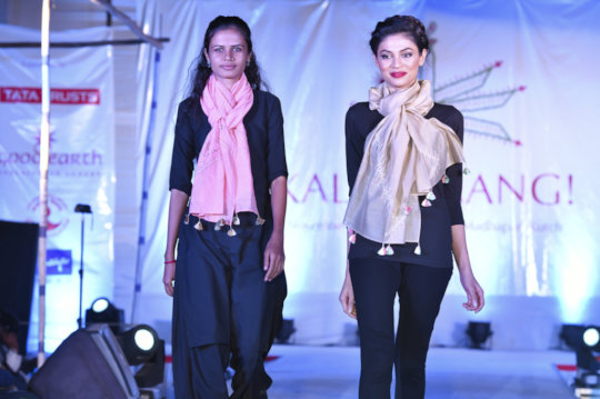 Taraben and co-design on the fashion show ramp
