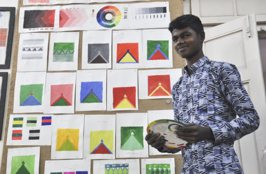 Darshan makes final presentation for Colour course