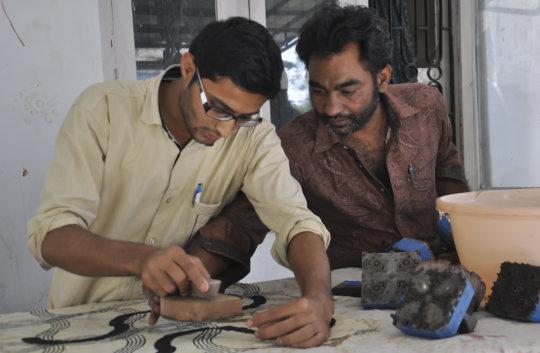 Amirbhai and Khalidbhai develop ajrakh concepts