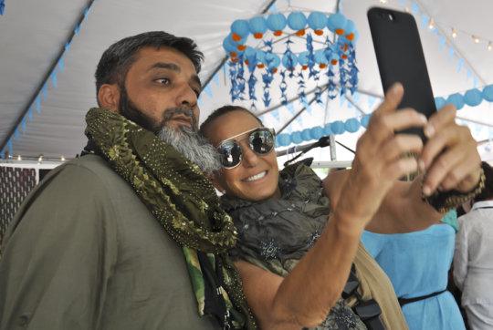 Azizbhai with Donna Karan!