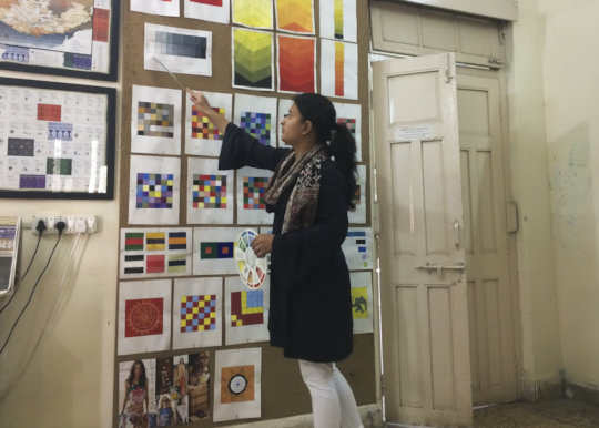 Muskaan presents her learning from Colour course