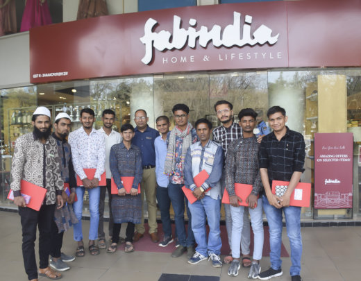 Men's class at Fab India for market orientation