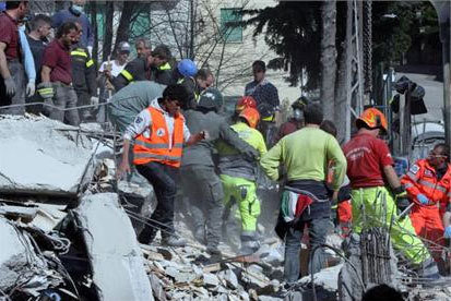 Appeal for Victims of Abruzzo Earthquake