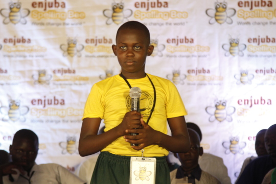 Girl Spelling Bee in Tororo