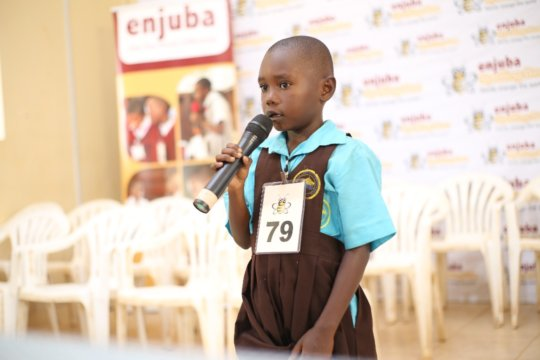 6 year old Henrica won the local language bee