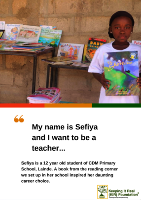 12 YEAR OLD SEFIYA & HER FIRST PERSONAL STORYBOOK