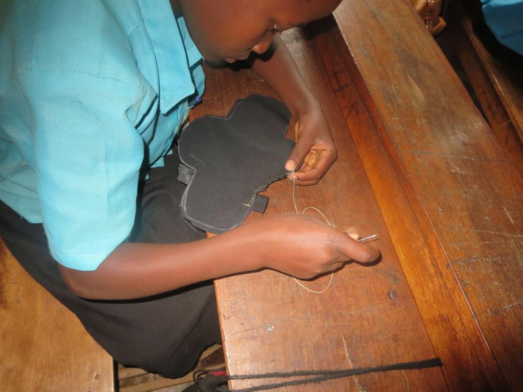 Children making pads