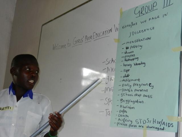 Girl at Peer Education Workshop