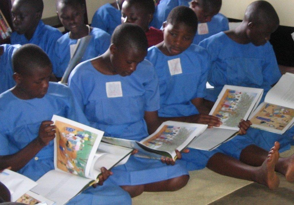 Girls Reading Class