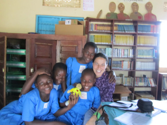 Project Leader, Caroline Riss, in Uganda