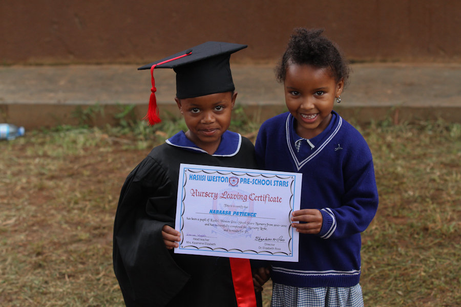 Graduate and younger student