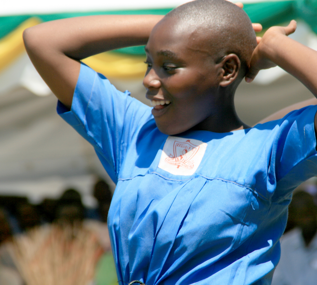 Dancing Girl at Kasiisi Primary School
