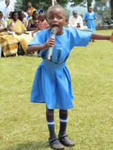 Girl Singing at Kasiisi Primary School
