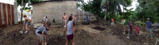 Volunteers engaged with building UPYA