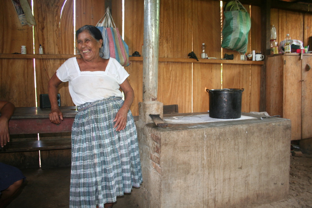 Stove beneficiary shows off her new stove!