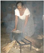 Serbelia using on a open-pit fire.