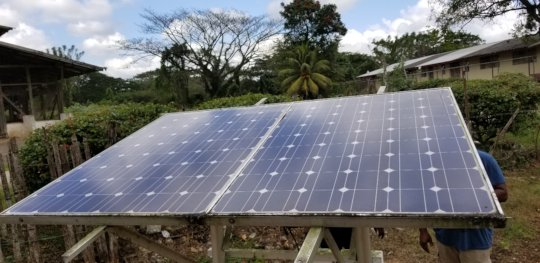 New solar panel to generate power for the pumps.