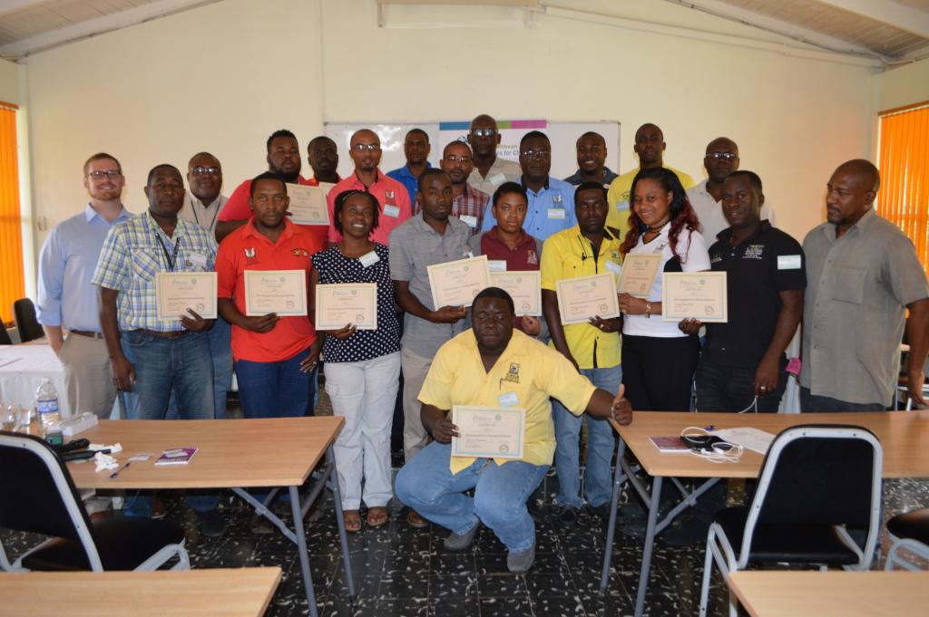 Day 3 training - certificate presentation
