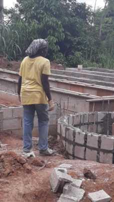 Grow beds under construction 2