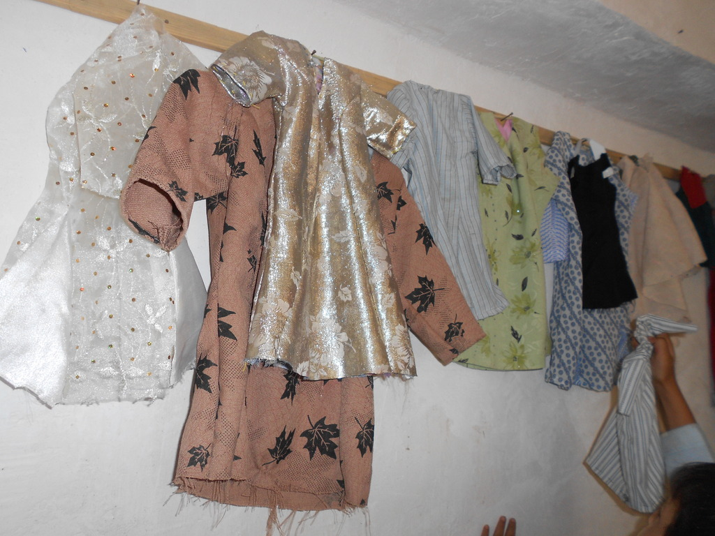 Mock Dresses made by students
