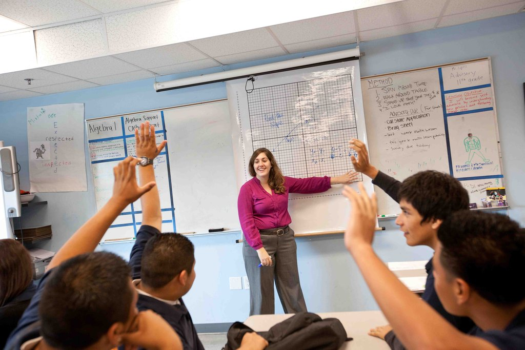 Professional teachers deliver general content.